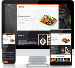 Restaurant & Cafe & Bar & Bistro Web Tasarım V2